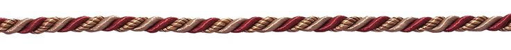 """Small Burgundy Taupe Baroque Collection 3/16"""" Decorative Cord Without Lip Style# 316BNL Color: CRANBERRY HARVEST – 8612 (Sold by The Yard)"""