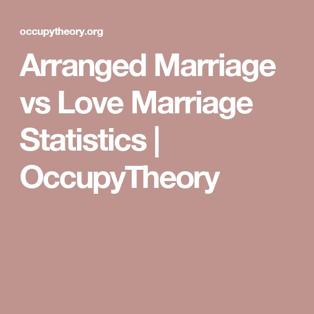 Arranged Marriage vs Love Marriage Statistics | OccupyTheory