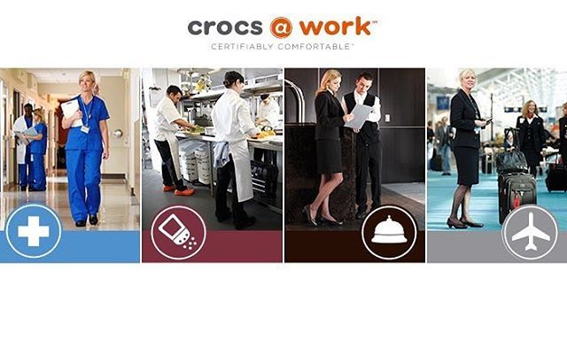 The new Crocs Work Collection 18  Comfortable work shoes for all professions  Available in stores & on the e-shop   http://bit.ly/CrocsWork