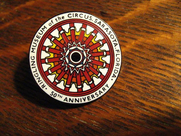 Ringling Circus Museum Lapel Pin - Vintage Sarasota Florida 50th Anniversary Pin