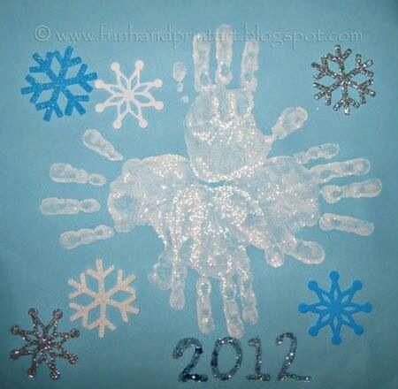 Snowflake handprints ⛄