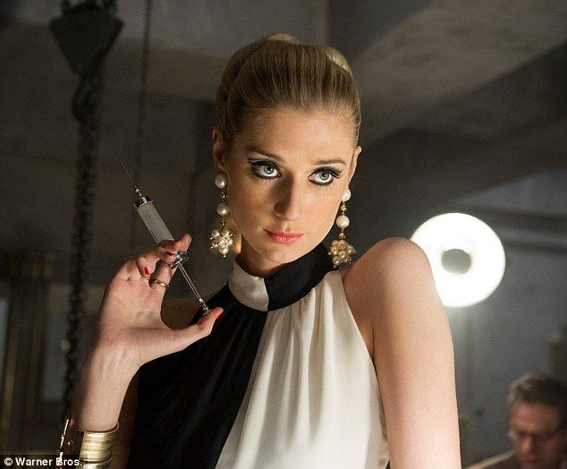 Deliciously evil: Elizabeth Debicki plays Victoria Vinciguerra in The Man From U.N.C.L.E., who looks like an impossibly beautiful Catherine Deneuve with the heart of a terrifying Bond villian