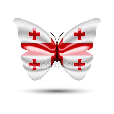 Georgia flag butterfly — Stock Vector