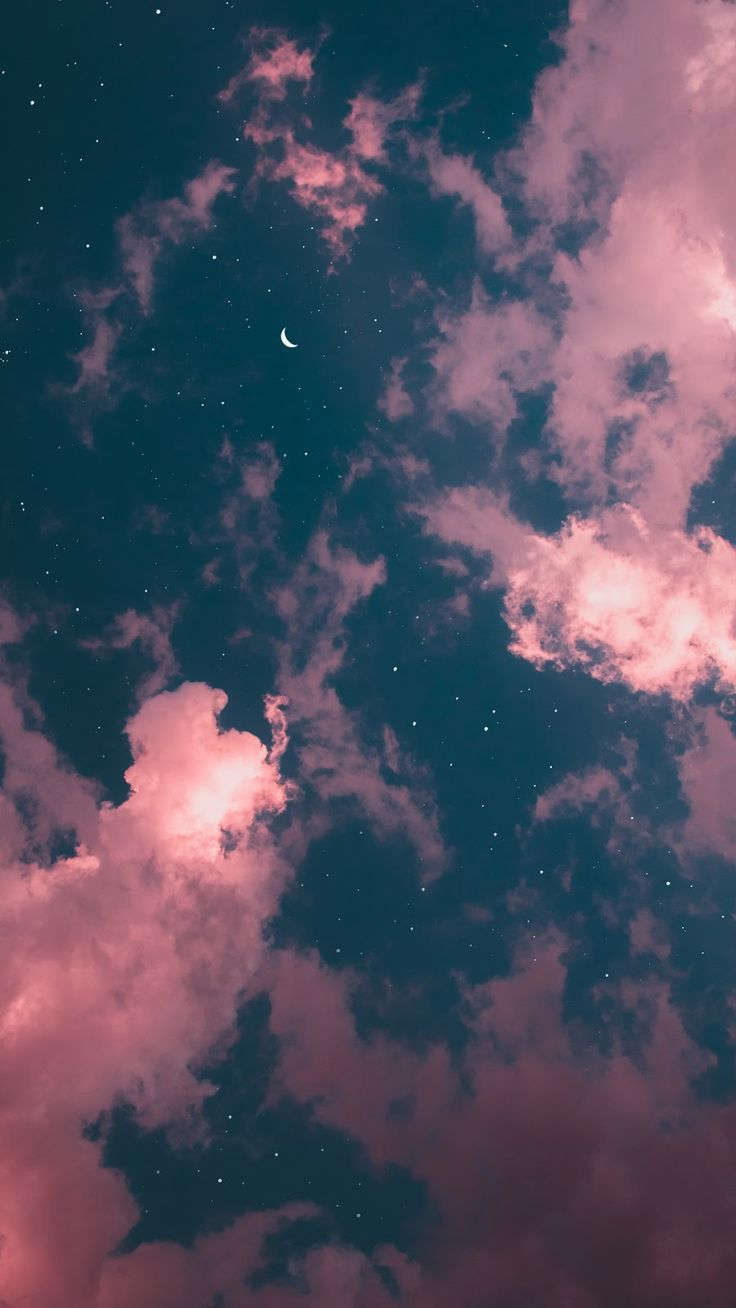 Nächtlicher Himmel Night sky #wallpaper #iphone #android #background #followme …