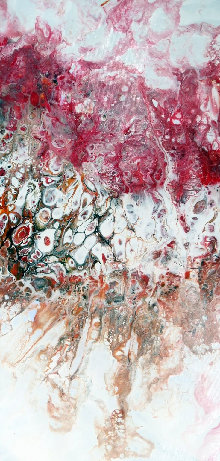 Detail Of A Larger Canvas Fluid Art Pouring Acrylics Flotrol