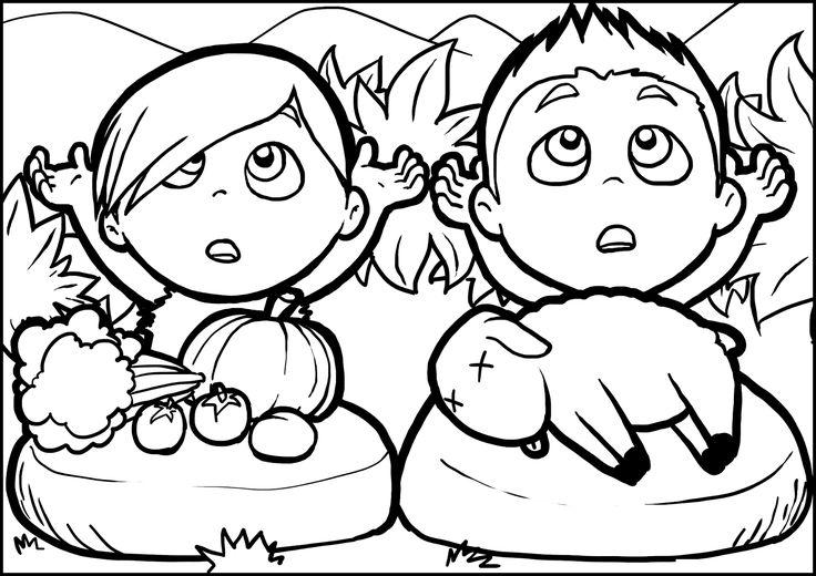 Imagenes Cristianas Para Colorear: Dibujos Para Colorear De Cain y Abel