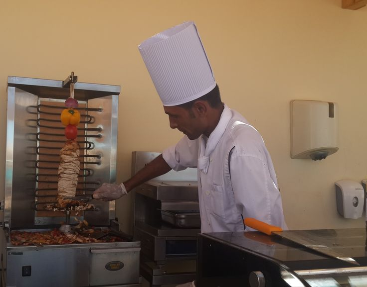 Ready to have your SAHWERMA sandwich , fresh live cooking from Chef Mohamed Hassan who is getting your yummi Shawerma when you have your lunch meal at Seashell restaurant , enjoy the sea view restaurant and relax ...