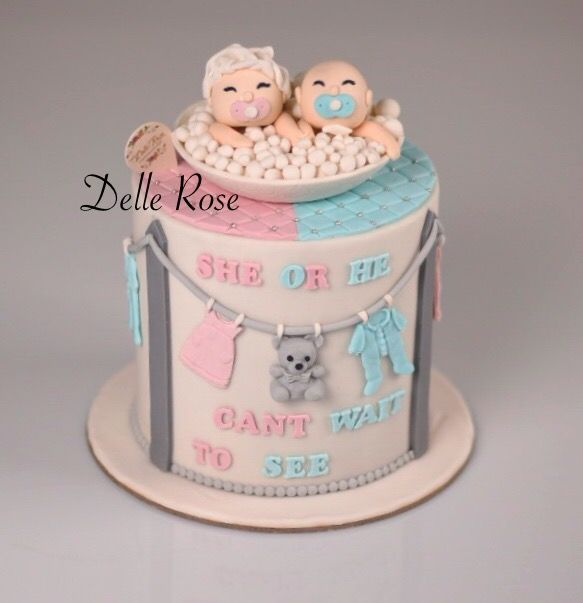 She Or He Amazing Pregnant Cake Boy Or Girl Cake Pink Or Blue Baby