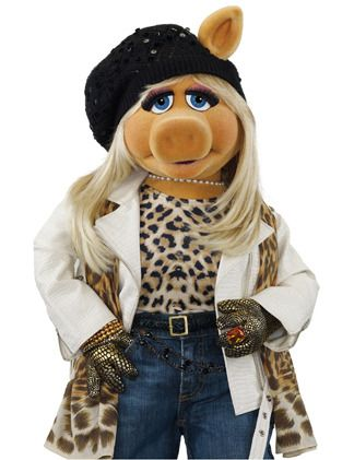 Miss Piggy is fly, and it's probably sad, but I would wear that outfit....