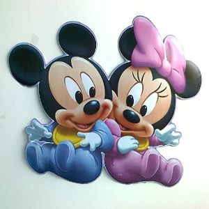 Baby Mickey And Minnie Mouse | Large Baby Minnie U0026 Mickey Mouse Wall Sticker Part 51