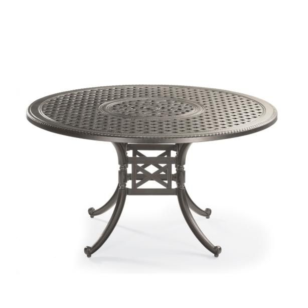 Carlisle Round Cast Top Dining Table In Slate Finish Part 96
