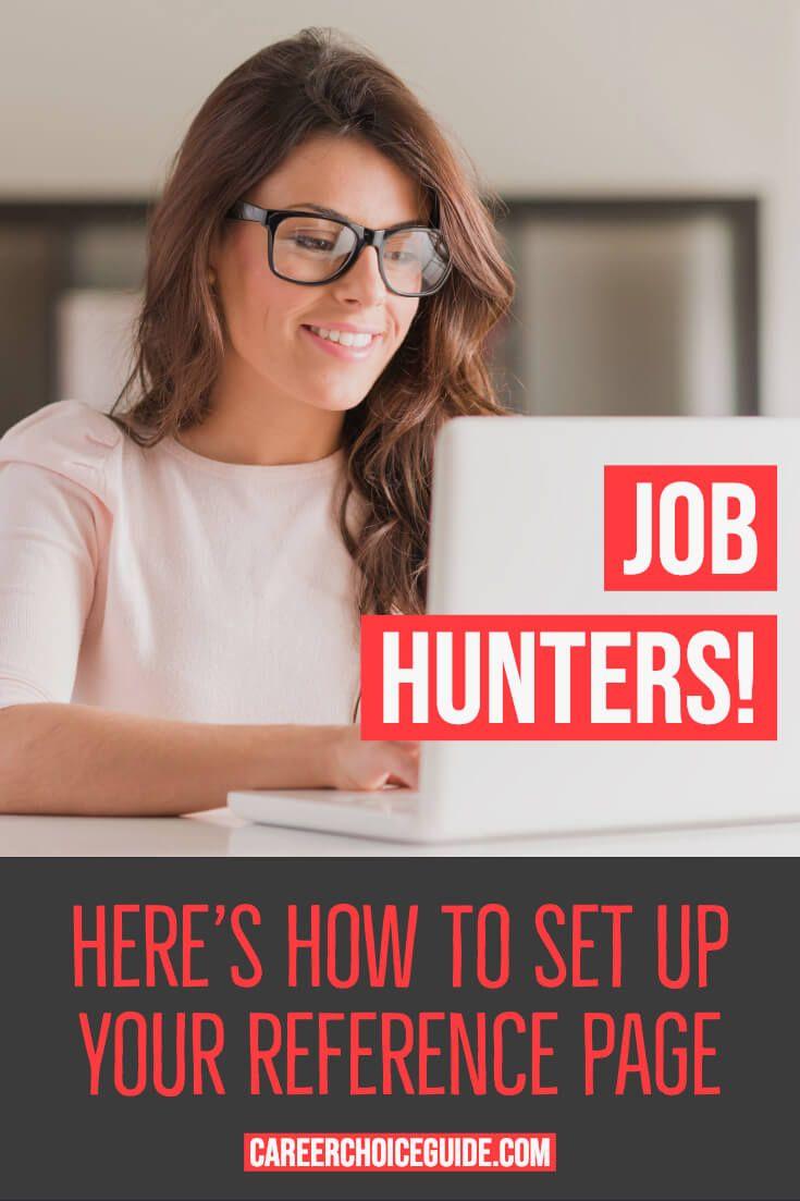 resume reference page setup tips  u0026 template