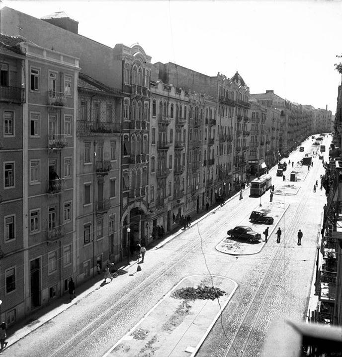 | Rua Morais Soares,século XX.Autor: Desconhecido