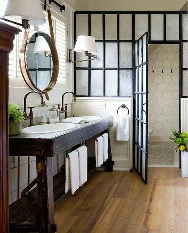 Black Framed Glass Shower Doors