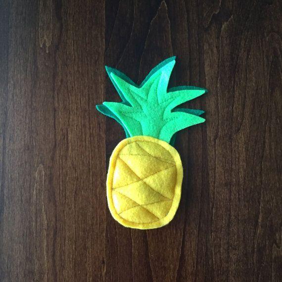 Pineapple Catnip Cat Toy  Tropical Fruit Cat Nip by FurballFanatic  SUPER CUTE!! Aloha!