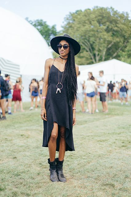 The Fashion-Girl Answer To 100-Degree Temps #refinery29 http://www.refinery29.com/panorama-music-festival-best-summer-outfits-2016