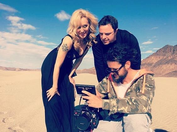 Filming a new music video with @MarkusSchulz in the Mojave Desert! #BTS #JES #officialJES #newmusicvideo #repost