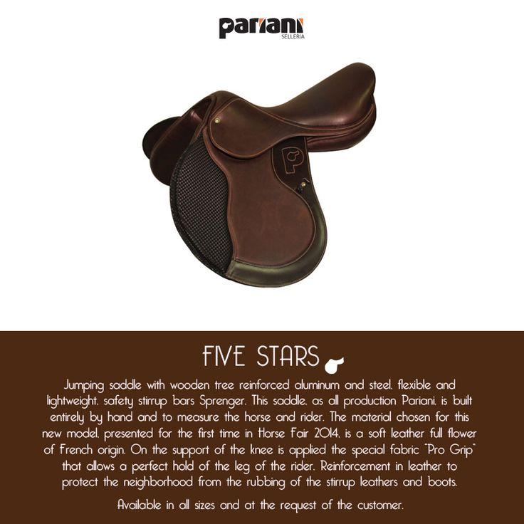 New FIVE STARS! #saddle #PARIANI