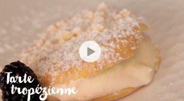 Servir une tarte tropézienne pour le dessert ? Facile ! Regardez attentivement la vidéo et suivez les conseils du chef Cyrielle.