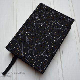 Univerzální obal na knihu - Souhvězdí/černá I