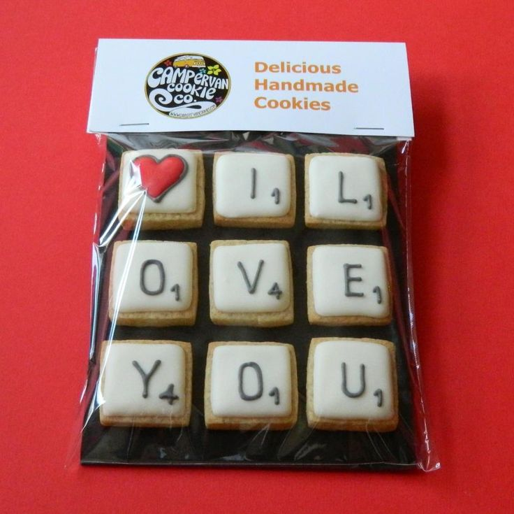 CampervanCookies: scrabble tile cookies
