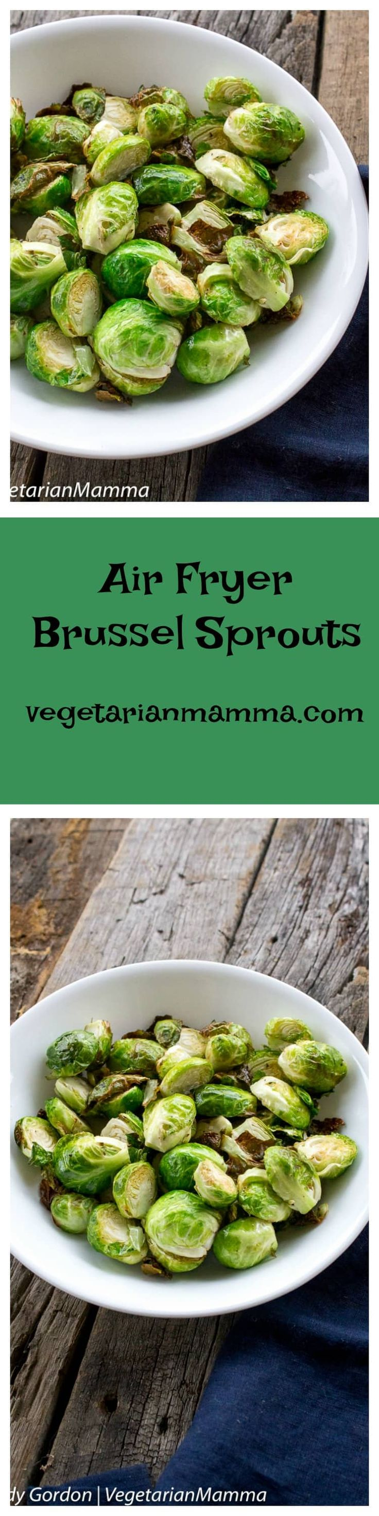Air Fryer Brussel Sprouts is a simple and easy to make side dish. Making and eating your brussels has never been easier! Eat those veggies!