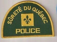 Surete du Quebec Canada Police Patch