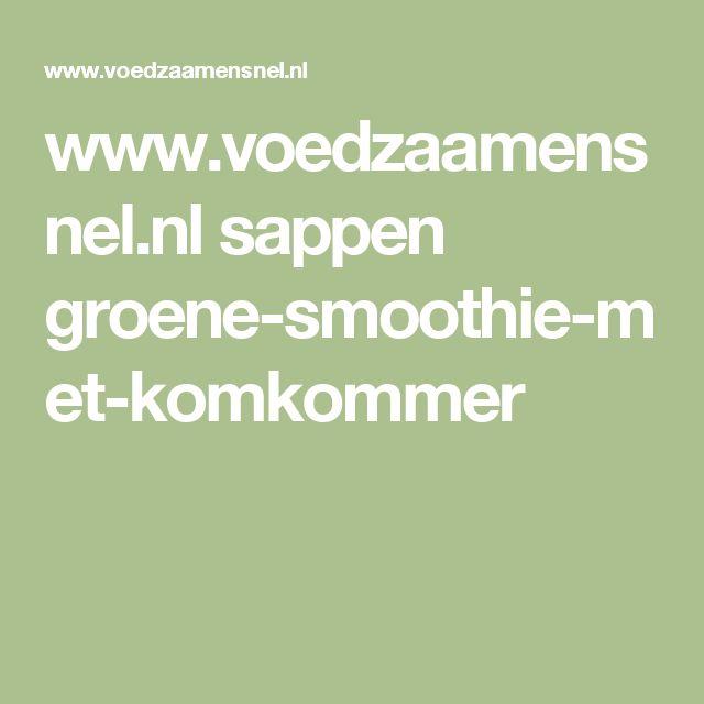 www.voedzaamensnel.nl sappen groene-smoothie-met-komkommer