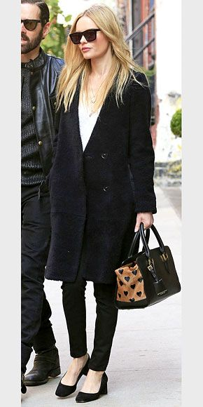 1000  ideas about Black Shearling Coat on Pinterest | Shearling