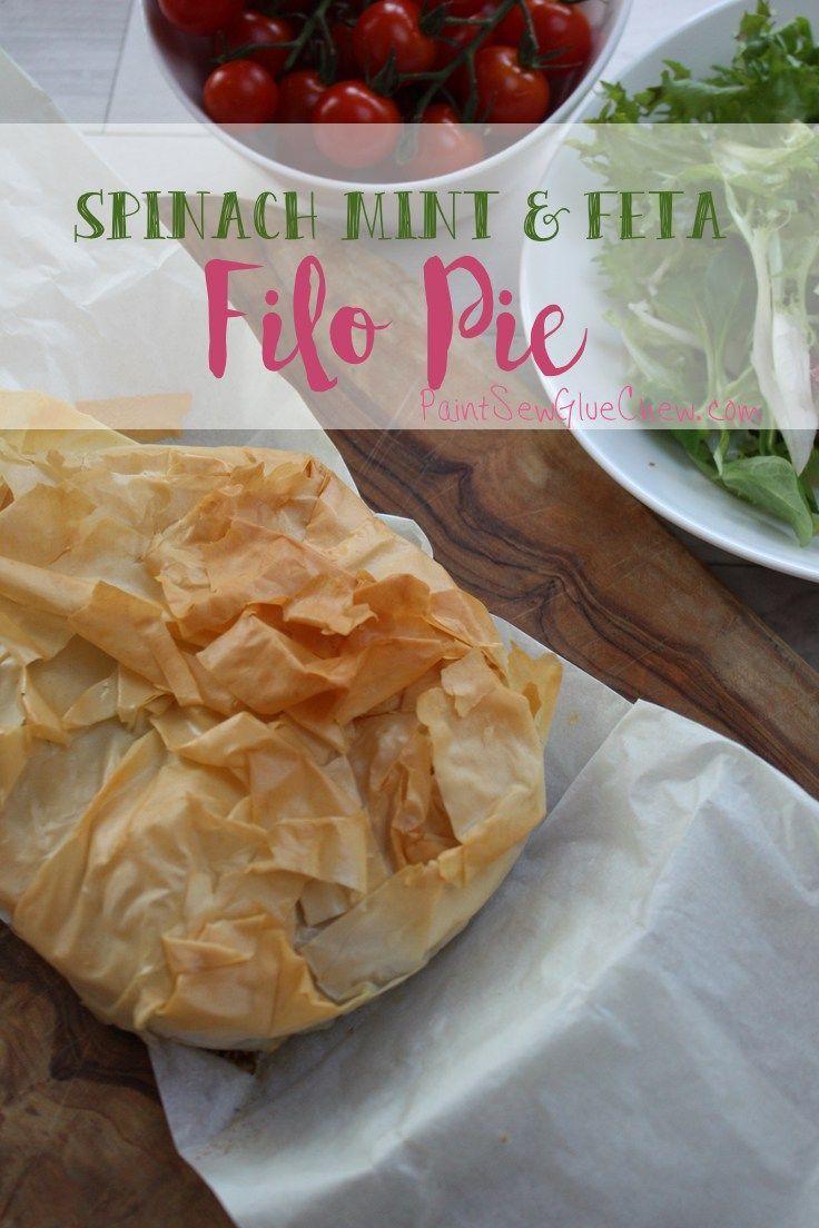 Spinach Mint and Feta Filo Pie
