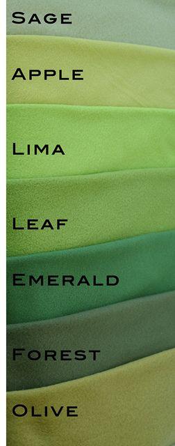 green fleece color chart   per camera