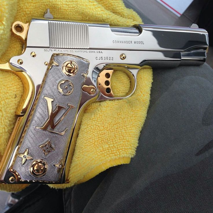 #SPLURGE Pinterest - @houstonsoho | M1911 with @LouisVuitton Chrome + Gold Grip