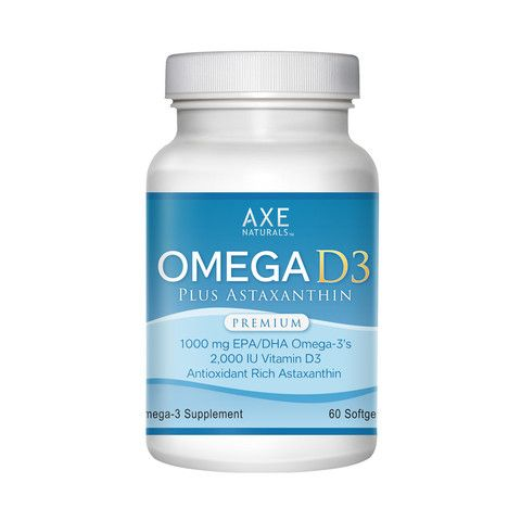 Get Free Shipping + $10 off when you order the 3-PACK of Omega 3 Omega D3  Fish Oil + Vitamin D3 + Astaxanthin 1010mg Highest & Purest form of EPA / DHA 20