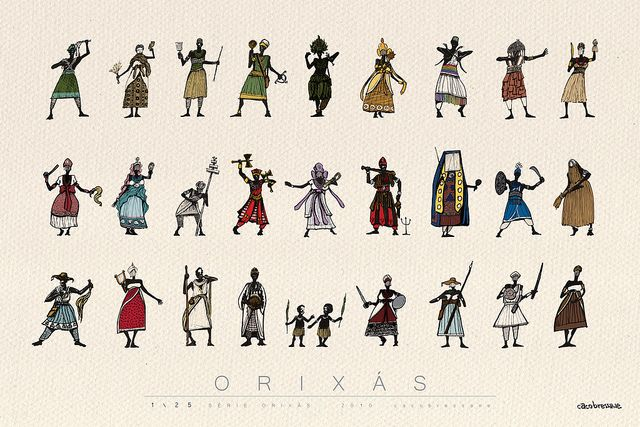 ORIXAS by Caco Bressane, via Flickr
