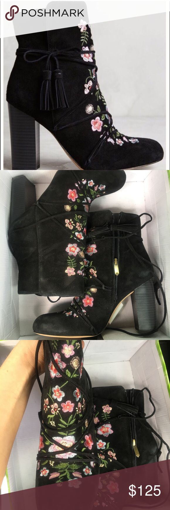 Winnie Boot by Sam Edelman NEW in Box! SALE✨✨✨ Winnie Boot by Sam Edelman, new in box. Sold at Anthropologie and seen in many SS17 blogs, very Valentino / McQueen -esque. Floral Embroidered Black Bootie Anthropologie Shoes Ankle Boots & Booties