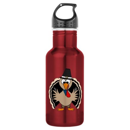 Thanksgiving Turkey 18oz Water Bottle