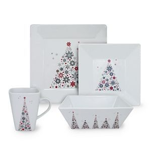These are my Christmas Dishes!!   I absolutely love them.  My Parents gave them to me last year and they came from Kohl's.