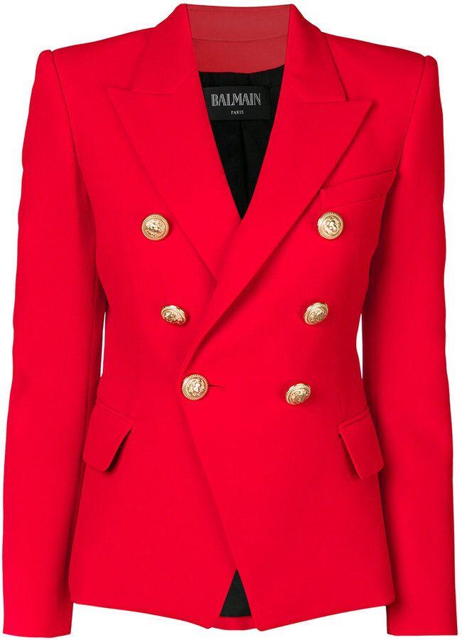 3208b762 Balmain double breasted blazer #blazer #ad #suit #womens | Fashion ...