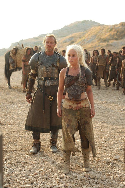 Daenerys Targaryen and Jorah Mormont from Game of Thrones, future idea for Alex and I.