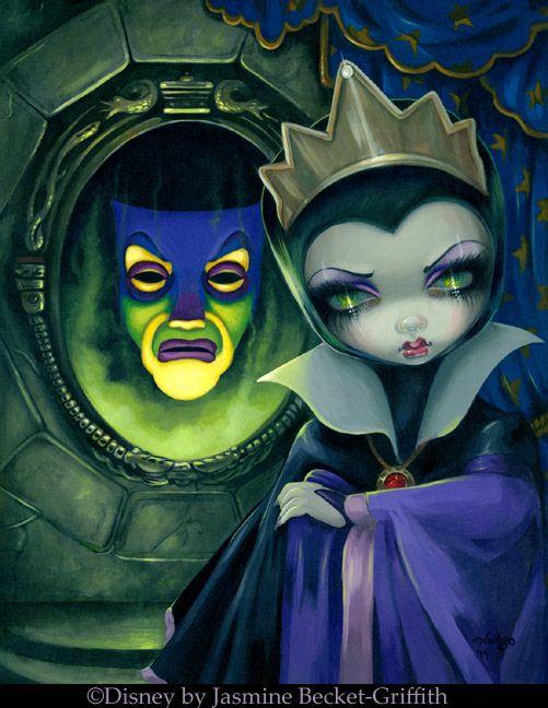 Evil Queen Disney by Jasmine Becket-Griffith from Snow White - Wicked Queen - Disney Villains Art from WonderGround Gallery Disneyland Magic Mirror gothic