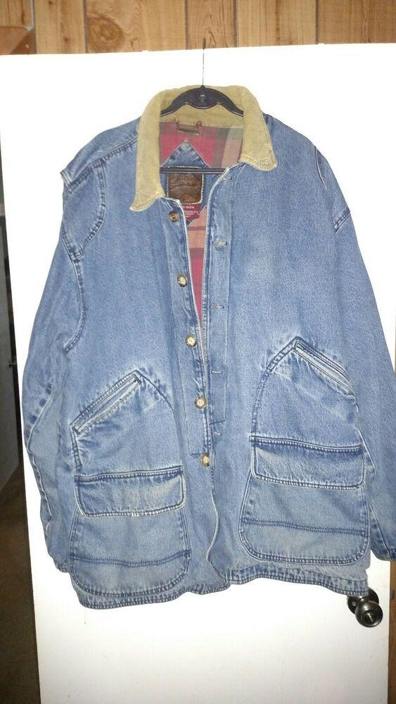 27d5edbc1 Vintage Men's Urban Equipment Country Faded Denim Chore Coat ...