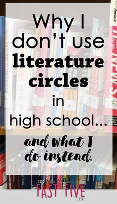 Books Clubs, Not Literature Circles, Best of Both Words, Reading Plans for High School English, Out of Class Reading