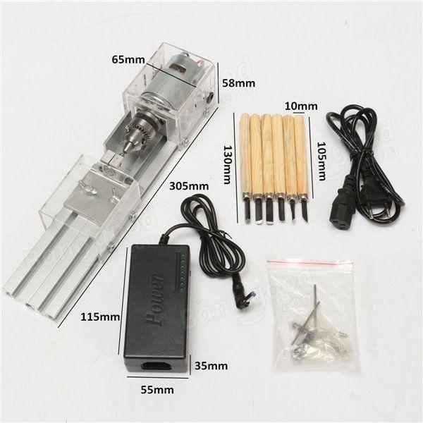 Raitool® LB-01 Mini Lathe Beads Machine Woodworking DIY Lathe Polishing Drill Rotary Tool DC 24V  Sale - Banggood Mobile