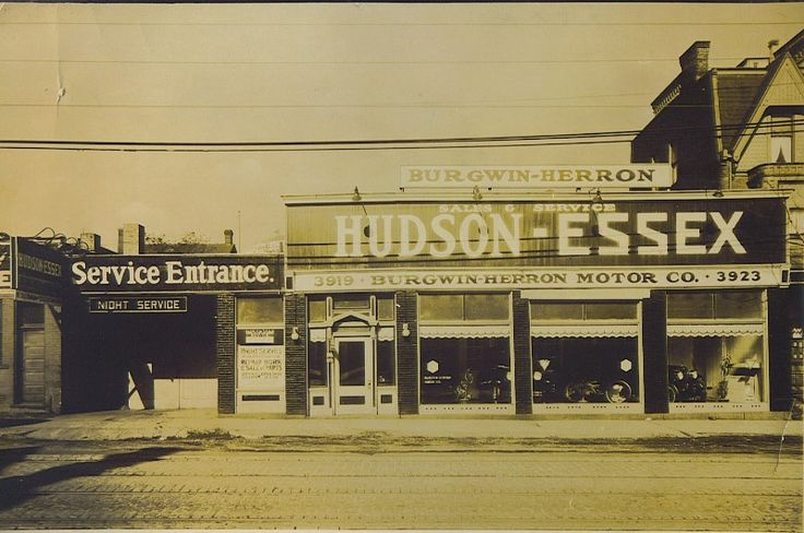 History of hudson dealerships with images car