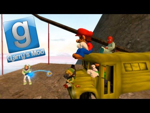 Gmod Sandbox Fun - Banana Bus Fail, Bungee Jumping, Frogs - http://www.gigglefinger.com/gmod-sandbox-fun-banana-bus-fail-bungee-jumping-frogs/