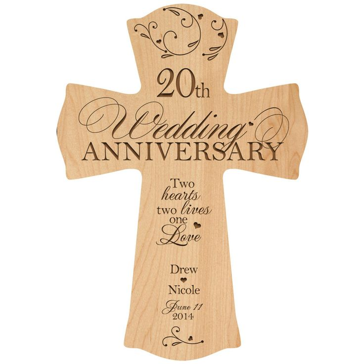 Personalized 20th wedding anniversary 20th anniversary for Gift ideas for first wedding anniversary to wife