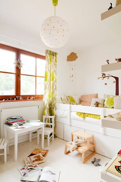 sunny and light girl room - with a lot of white