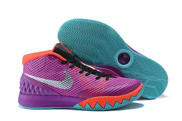 hot sale online 4d3dd 1c57b 2018 Popular Mens Nike Kyrie 1 Easter Collection Purple Pink Black Silver  Sneakers