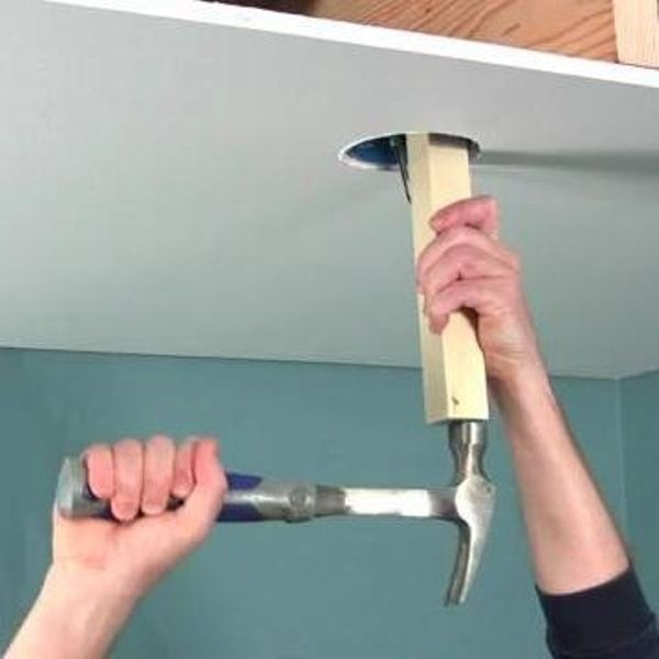 The Family Handyman Senior Editor, Gary Wentz, will show you how to remove an old light and install a ceiling fan brace so you can properly install a new ceiling fan.