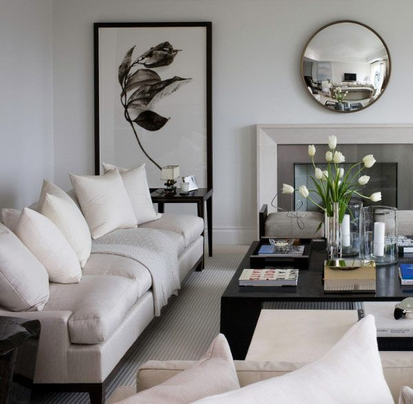 Monochromatic modern living room